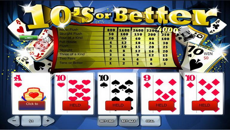 Video poker online falas